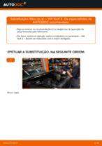 Como mudar e ajustar Filtro de Ar VW GOLF: tutorial pdf