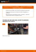 Einbau von Motorölfilter beim VW GOLF II (19E, 1G1) - Schritt für Schritt Anweisung