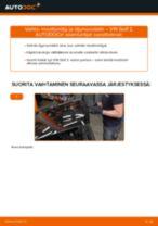 Kuinka vaihtaa moottoriöljy ja öljynsuodatin VW Golf 2-autoon – vaihto-ohje