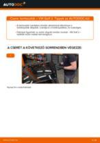 Termosztát-csere VW Golf 2 gépkocsin – Útmutató