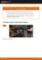 Kaip pakeisti VW Golf 2 variklio alyvos ir alyvos filtra - keitimo instrukcija