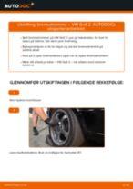 Gratis instruksjoner på nett for bytte Bremsetrommel VW GOLF II (19E, 1G1)