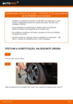 Quando mudar Tambor de roda VW GOLF II (19E, 1G1): pdf manual