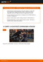 Elülső féktárcsák-csere VW Golf 2 gépkocsin – Útmutató