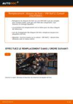 Comment changer : disques de frein avant sur VW Golf 2 - Guide de remplacement