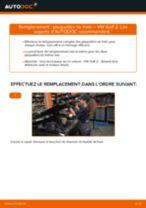 Comment changer : plaquettes de frein avant sur VW Golf 2 - Guide de remplacement