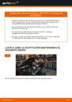 Cómo cambiar: discos de freno de la parte delantera - VW Golf 2 | Guía de sustitución