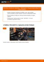 Jak vyměnit a regulovat Brzdové destičky ruční brzdy VW GOLF: průvodce pdf