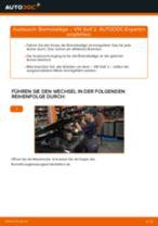 Online-Anteitung: Bremssteine hinten + vorne austauschen VW GOLF II (19E, 1G1)