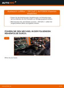 Wie der Wechsel durchführt wird: Luftfilter 1.8 GTI Golf 2 tauschen