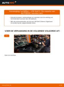 Vervangen: Luchtfilter VW GOLF