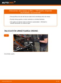Cum să efectuați înlocuirea: Filtru ulei la 1.8 GTI VW GOLF II (19E, 1G1)
