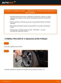Jak provést výměnu: Brzdovy buben na 1.8 GTI VW GOLF II (19E, 1G1)