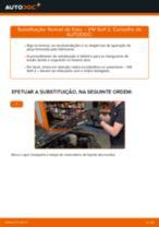 Quando mudar Flexível de travão VW GOLF II (19E, 1G1): pdf manual