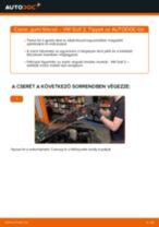 Elülső gumi fékcső-csere VW Golf 2 gépkocsin – Útmutató