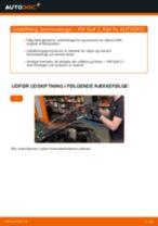 Online gratis instruktioner hvordan skifter man Bremseslange VW GOLF II (19E, 1G1)