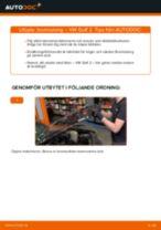 Byta bromsslang fram på VW Golf 2 – utbytesguide
