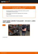 Amordi Tugilaager vahetus: pdf juhend VW GOLF