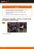 Domlager vorne selber wechseln: VW Golf 2 - Austauschanleitung