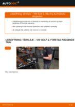 Automekaniker anbefalinger for udskiftning af VW Golf 6 2.0 TDI Hjulleje