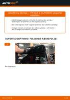Udskift tårnleje bag - VW Golf 2 | Brugeranvisning