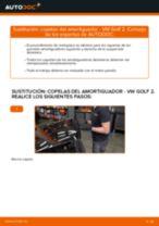 Cómo cambiar: copelas del amortiguador de la parte delantera - VW Golf 2 | Guía de sustitución