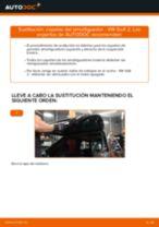 Cómo cambiar: copelas del amortiguador de la parte trasera - VW Golf 2 | Guía de sustitución