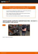 Come cambiare supporto ammortizzatore della parte anteriore su VW Golf 2 - Guida alla sostituzione