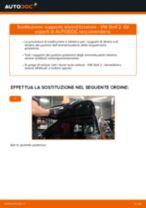 Come cambiare supporto ammortizzatore della parte posteriore su VW Golf 2 - Guida alla sostituzione