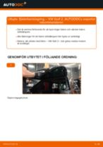 Byta fjäderbenslagring bak på VW Golf 2 – utbytesguide