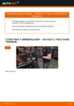 DIY-manual for utskifting av Fjærbenslager i VW GOLF 2020