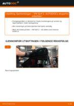 PDF med trinn for trinn-veiledning for bytte av VW GOLF II (19E, 1G1) Fjærbenslager