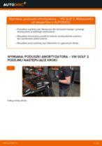 Jak wymienić poduszka amortyzatora przód w VW Golf 2 - poradnik naprawy