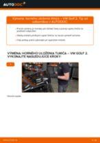 Ako vymeniť a regulovať Ložisko tlmiča VW GOLF: sprievodca pdf