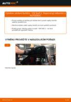 Manuál pro kutily o výměně Uložení Tlumičů v VW GOLF