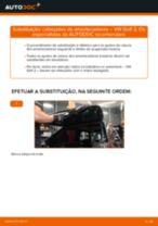 Como mudar cabeçotes do amortecedores da parte traseira em VW Golf 2 - guia de substituição