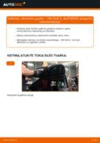 Kaip pakeisti VW Golf 2 atraminio guolio: galas - keitimo instrukcija