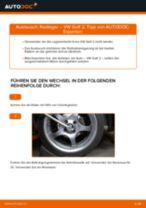 Radlager auswechseln VW GOLF: Werkstatthandbuch