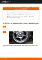 Comment changer : roulement de roue avant sur VW Golf 2 - Guide de remplacement