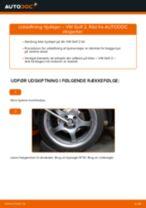 Hvordan skifter man og justere Hjullejesæt VW GOLF: pdf manual