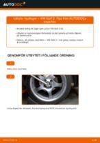 Byta hjullager fram på VW Golf 2 – utbytesguide