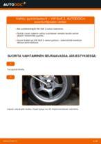 Kuinka vaihtaa pyöränlaakerit eteen VW Golf 2-autoon – vaihto-ohje