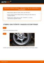 Ako vymeniť predné ložisko kolesa na VW Golf 2 – návod na výmenu