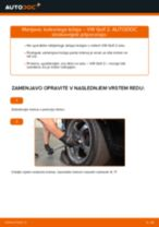 Kako zamenjati avtodel kolesni ležaji zadaj na avtu VW Golf 2 – vodnik menjave