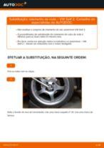 Como mudar rolamento da roda da parte dianteira em VW Golf 2 - guia de substituição