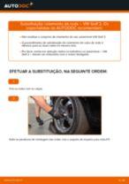 Como mudar rolamento da roda da parte traseira em VW Golf 2 - guia de substituição