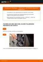 Schritt-für-Schritt-PDF-Tutorial zum Radlager-Austausch beim VW GOLF II (19E, 1G1)