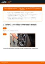 Hátsó kerékcsapágy-csere VW Golf 2 gépkocsin – Útmutató