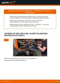 Wie der Wechsel durchführt wird: Bremsschläuche 1.8 GTI VW GOLF II (19E, 1G1) tauschen