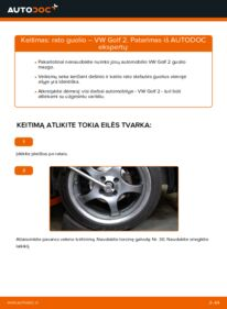Kaip atlikti keitimą: 1.8 GTI VW GOLF II (19E, 1G1) Rato guolis